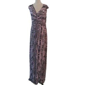 Ellen Tracy Knot Front Maxi Dress, XL